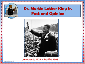 Martin Luther King Fact and Opinion Game