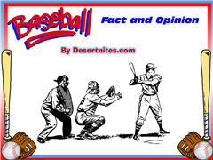 Baseball Fact and Opinion PowerPoint Game